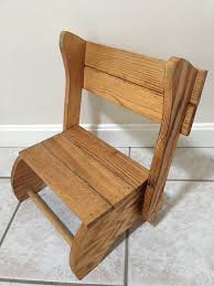 Vintage Wood Child's Step Stool - Portable, Convertible ...