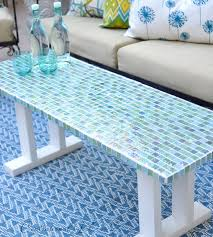 ways to diy outdoor furniture mosaic tile table tile tables and
