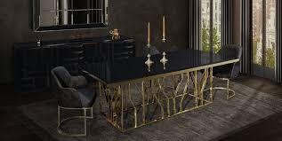 casa padrino luxus esstisch gold schwarz 200 x 100 x h 77 cm rechteckiger edelstahl küchentisch mit glasplatte luxus esszimmer möbel