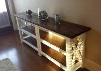 Ana White Rustic X Console Table The Beginning Diy Projects With Home Decor Engaging Images