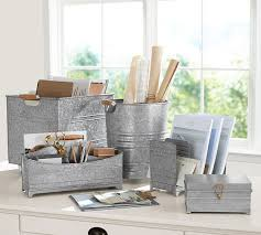 Pottery Barn Bathroom Accessories by Galvanized Desk Accessories Pottery Barn Galvanized Bathroom