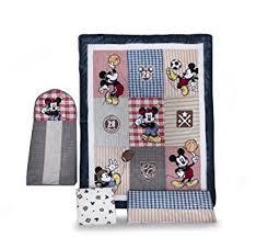 amazon com disney 4 piece vintage mickey crib bedding set