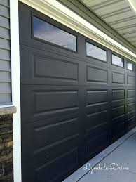 Painted Black Garage Doors Pilotproject