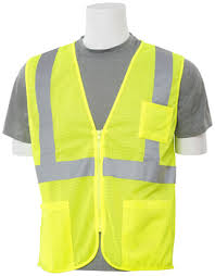 Mortex Kool Deck Elite by R1 Supply Erb Safety S363p Class 2 Mesh Yellow Lime Safety Vest