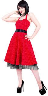 red u0026 black polka dot dress vintage styles 50 u0027s dresses