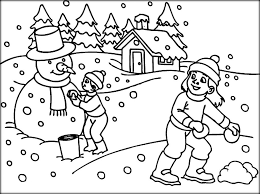 Cool Winter Coloring Pages For Kindergarten