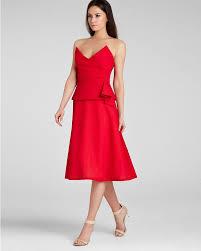 bcbgmaxazria dress tessa strapless structured bodice in red lyst