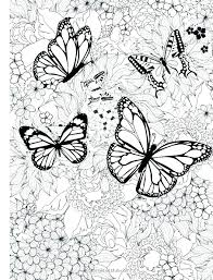 Butterfly Coloring Page Printable Free Pages Simple Art Monarch