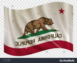 California Republic Flag Vector Waving State Usa