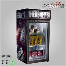 Desk Top Display Cooler Fridge Energy Drink Refrigerator Small Showcase SC80B