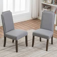 Amazon.com - Merax Set Of 2 Stylish Upholstered Fabric Dining Chairs ... Shop Flatiron Nailhead Upholstered Ding Chairs Set Of 2 By Chair Custom Awesome Tufted Dhi Nice Nail Head Pack Multiple Colors Classic Parson Living Room Trim Benchwright Ii Velvet Of By Inspire Q Scottsdale With Button Tufting And Premium 90 Off World Market Abbie Beige Linen