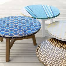 the mosaic outdoor coffee table outdoorlivingdecor about tile