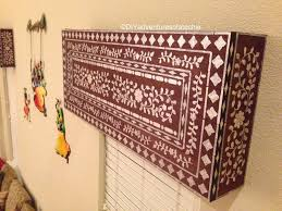 Adventures In Decorating Curtains by Indian Inlay Stenciled Window Cornice Techie U0027s Diy Adventures