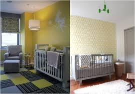 chambre enfant gris décoration chambre bébé en 30 idées créatives pour les murs