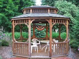 Minimalist Wooden Gazebo Idea With Railing Banister Plus Round ... 24m Decking Handrail Nationwide Delivery 25 Best Powder Coated Metal Fencing Images On Pinterest Wrought Iron Handrails How High Is A Bar Top The Best Bars With View Time Out Sky Awesome Cantilevered Deck And Nautical Railing House Home Interior Stair Railing Or Other Kitchen Modern Garden Ideas Deck Design To Get The Railings Archives Page 6 Of 7 East Coast Fence Exterior Products I Love Balcony Viva Selfwatering Planter Attractive Home Which Designs By Fencesus Also Face Mount Balcony Alinum Railings 4 Cityscape
