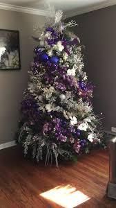 Christmas Tree Purple And Silver