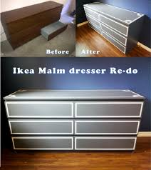 ikea malm dresser redo got the dresser from craigslist for 40