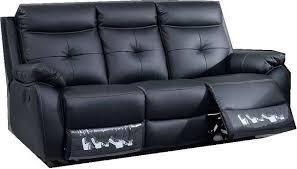 canapé cuir noir 3 places canape 3 places canapé 3 places 1405 noir kreabel