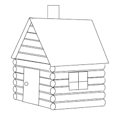 Cabin Coloring Pages 69
