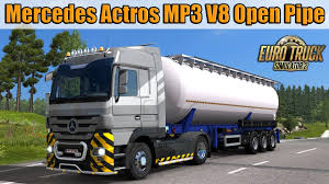 100 V8 Trucks Mercedes Actros MP3 Open Pipe Sound Euro Truck Simulator 2