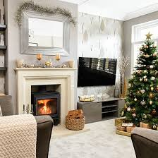 Grey And Taupe Living Room Ideas by Pale Grey And Taupe Christmas Living Room Living Room Decorating