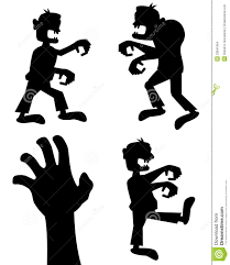 Zombie Hand Pumpkin Stencil Free by Halloween Zombie Silhouettes Set Stock Images Image 33641854