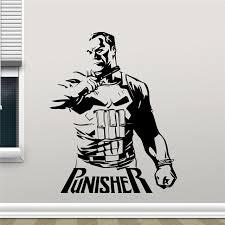aliexpress com buy punisher vinyl decal marvel superhero wall