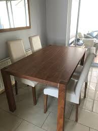 Light Walnut Dining Table With Six Cream Faux Leather Chairs £175.00 | In  Doagh, County Antrim | Gumtree Simmons Upholstery 500959 Heirloom Fniture Black Walnut Ding Table Bentley Designs Lyon Extending Table 6 Oiive Grey Leather Chairs Costco Uk Royce Set B 14 Camel Group Nostalgia Round Extension Starburst Dark Tables Custmadecom And Chairs Chair By Svegards Of America Argos Ava With 4 In Bucksburn Aberdeen Gumtree To Solid Jupe Hidden Leaves