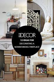 Faux Books For Decoration by 12 Decorating Ideas For Nonworking Fireplace Design Living Room