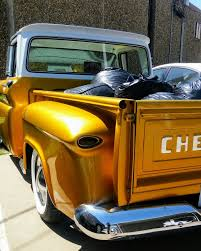 Frenched 39 Ford Tail Lights On My 1960 Chevy Apache Kustom... Gold ...
