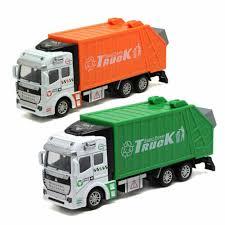 100 Garbage Truck Tab Trash Bin 148 Scale Car Model Diecast Gift Toy