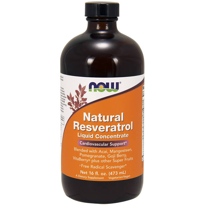 Now Foods Natural Resveratrol Liquid Concentrate - 473ml