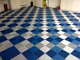 white blue vented grid loc rubber garage floor tiles flooring