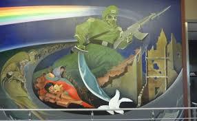 denver international airport murals pictures sinister the denver international airport
