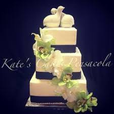 3 Tier Simple Wedding Cake Ribbon Accent Sill Flowers Buttercream Kates