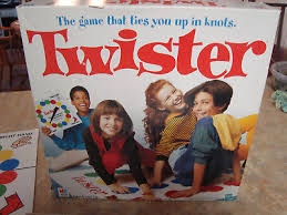Vintage Twister Game Milton Bradley 1993 With Box Instructions Complete CLEAN