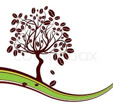 Coffee Tree Background Vector Illustration