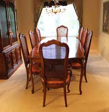 Stunning Thomasville Dining Room Set With Cane Back Chairs Ebth