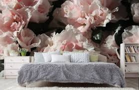3d rosa floral tapete wand bildwand große blumen foto tapete vintage floral wand aufkleber kinderzimmer zimmer dekor wandaufkleber