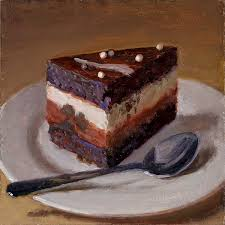 a slice of cake food painting a painting a day daily painting daily painter small work of art