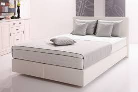 funktionspolsterbett mars boxspringbett doppelbett polsterbett schlafzimmer 160 x 200 cm weiß grau