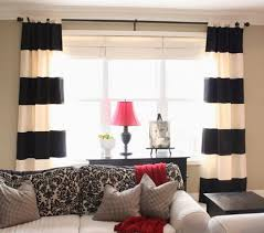 White Kitchen Curtains With Red Trim by Coffee Tables Black Striped Curtains Navy Blue And Gray Valance