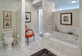 damask wallpaper modern with entry curved wall