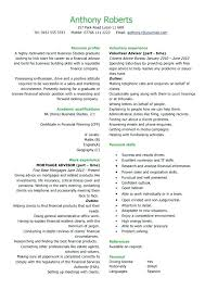 Financial Advisor Resume Examples Best Banking Sample Templates Aid Objective Fabulous Example