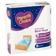 Goodnites Disposable Bed Mats by Parent U0027s Choice Disposable Bed Mats 9ct Walmart Com