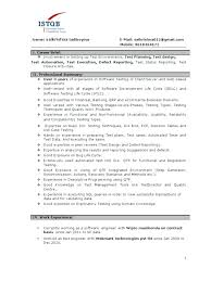 Manual Testing Sample Resume Tester Resumes Co Standard For 3 Year Experience