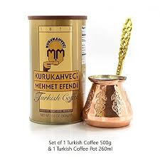 Mehmet Efendi Turkish Coffee 176oz With Handmade Copper Pot 88oz Pack Of 2 You Can Find More Details By Visiting The Image Link