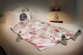 Bloody Zombie Death Bed Horror Bedroom Halloween Haunted House Decor Spooky Prop