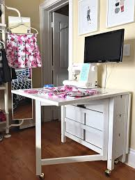 Ikea Corner Desk Hack by History In High Heels Ikea Sewing Table Decorating Du Jour