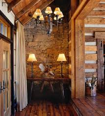 A Little Splash Of Hunting Lodge Style Swirled Into An Alluring Wooden Country Chic Interior
